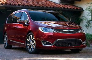 2019 Chrysler Pacifica pulling out of a garage