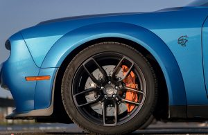front left wheel of the 2019 Dodge Challenger
