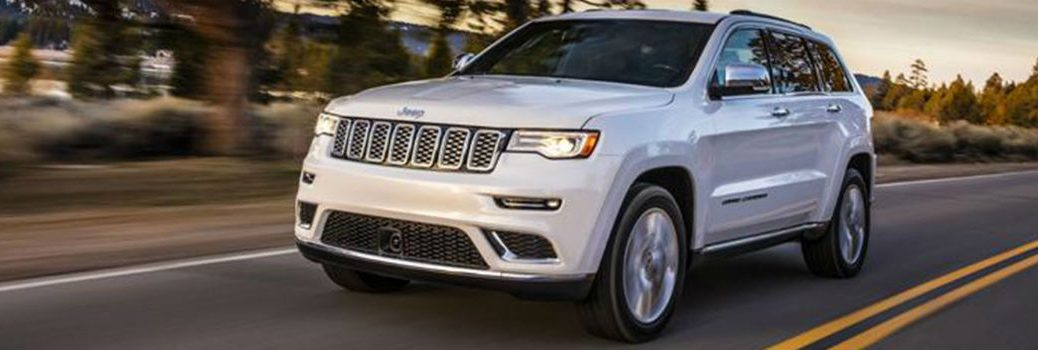 2020 Jeep Grand Cherokee on the road