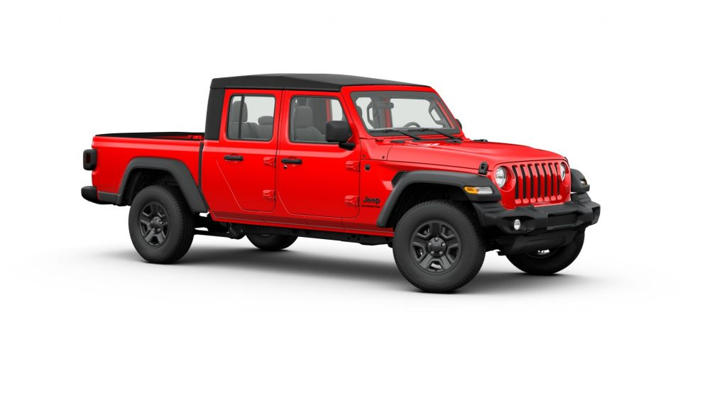 2020 Jeep Gladiator In Red
