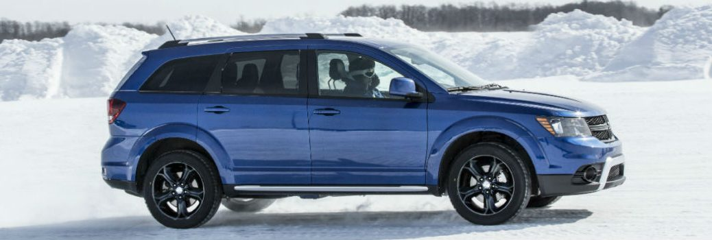 2020 Dodge Journey driving through snow