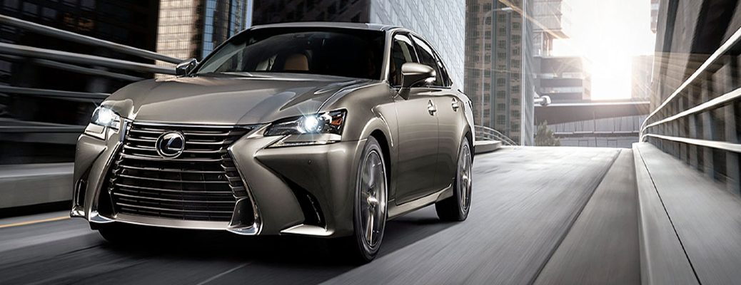 2020 Lexus GS driving around town