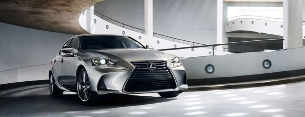 2020 Lexus IS in a garage