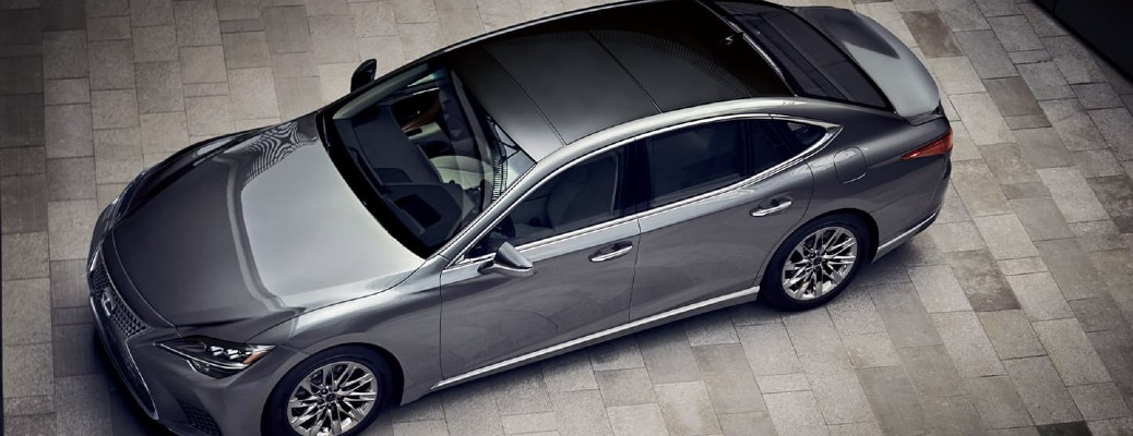 2021 Lexus LS viewed from above