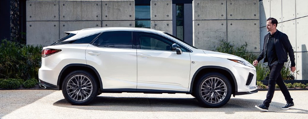 2021 Lexus RX in Ultra White by modern building