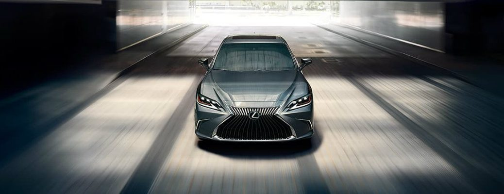 2020 Lexus ES cruising in the city
