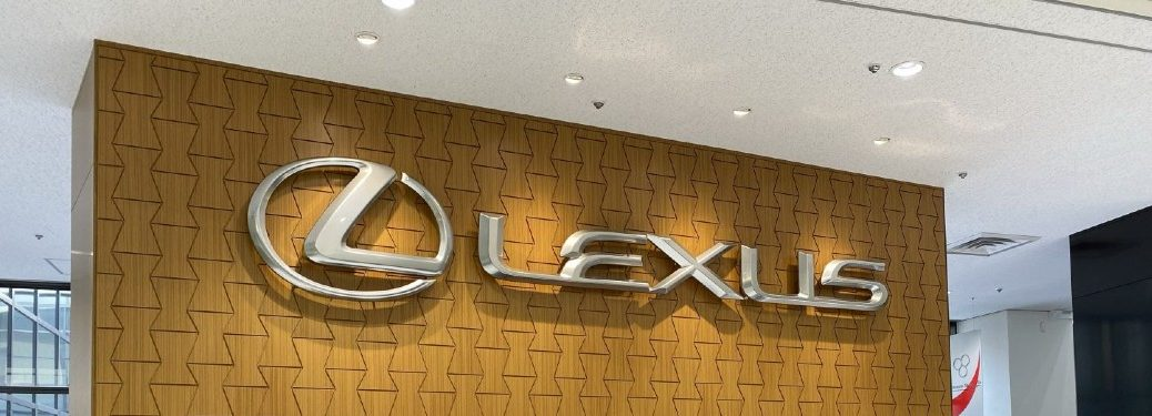 Lexus branding on wall