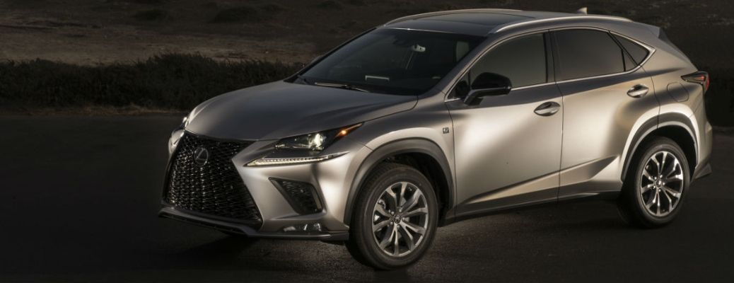 2021 Lexus NX going down the road