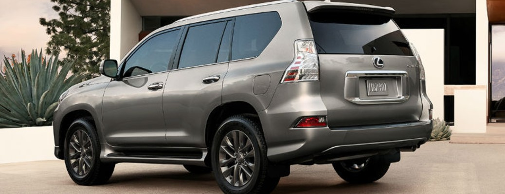 A 2021 Lexus GX parked outside a building