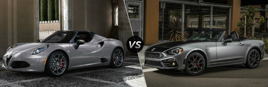 What's the Difference Between the Alfa Romeo and Fiat Convertibles?