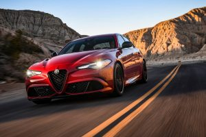 front view of a red 2020 Alfa Romeo Giulia