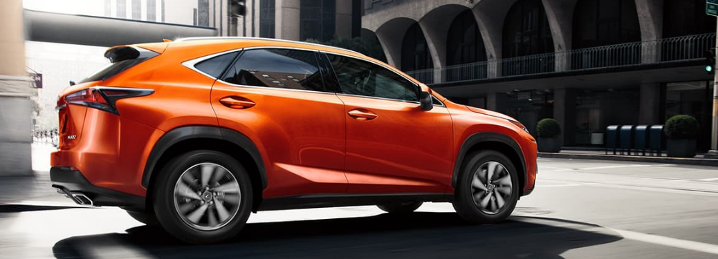 2020 Lexus NX Orange parked outside