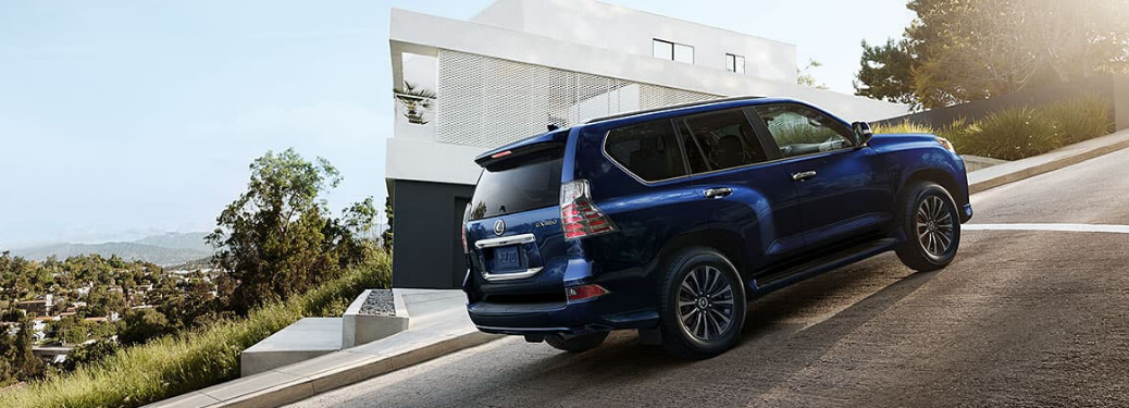 2020 Lexus GX parked on a hill