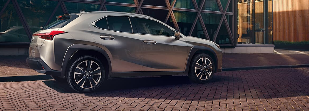 2020 Lexus UX parked on stone outside