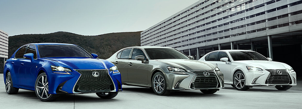 2020 Lexus GS parked with two others outside