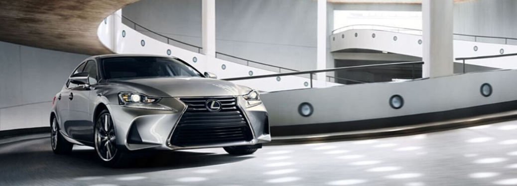 2020 Lexus IS driving indoors