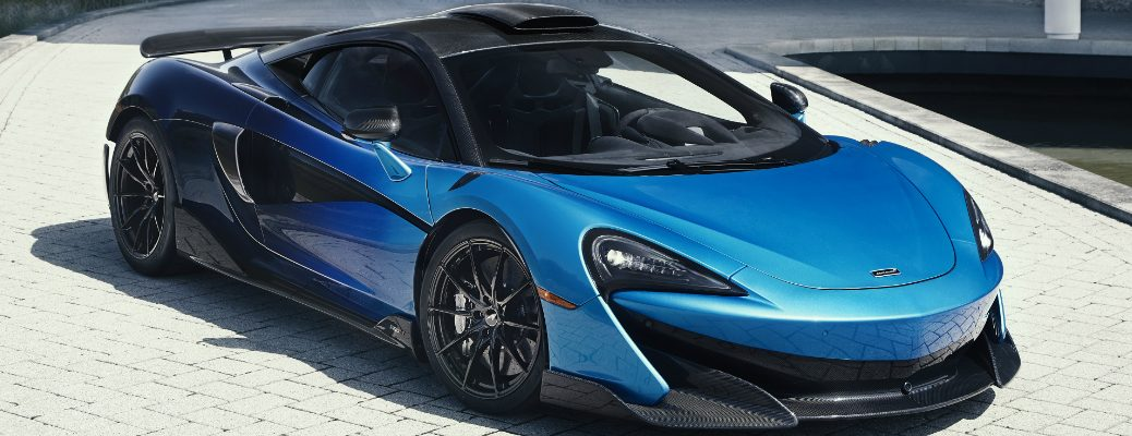 Front view of blue Comet Fade McLaren 600LT