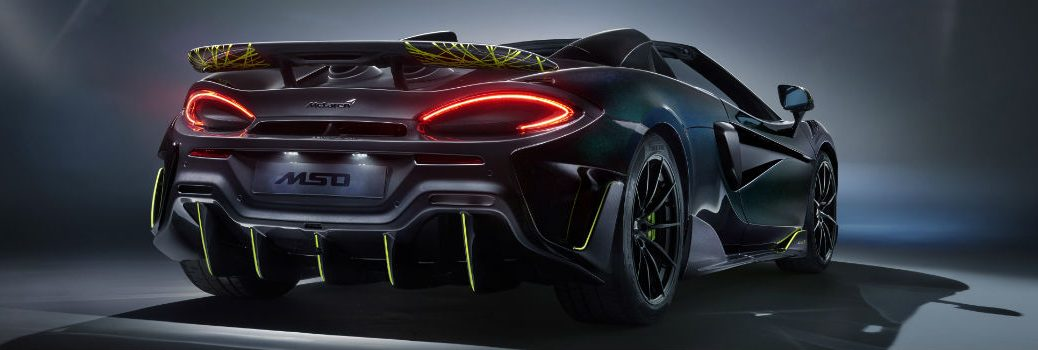2020 McLaren 600LT Spider Segestria Borealis by MSO Exterior Passenger side Rear Angle