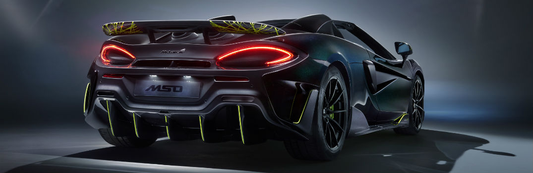 McLaren 600LT Spider Segestria Borealis by MSO Interior Design & Features