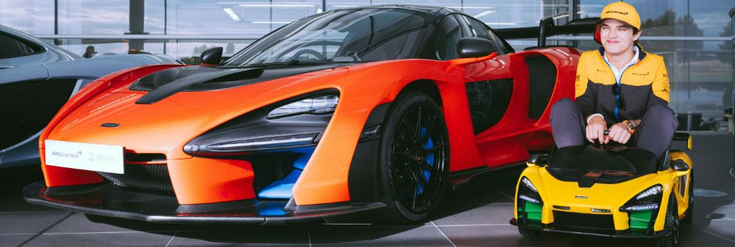 New McLaren Senna Ride-On Next to Real Model