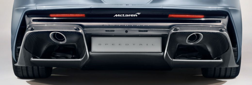 McLaren Speedtail Rear Fascia with Exhaust System