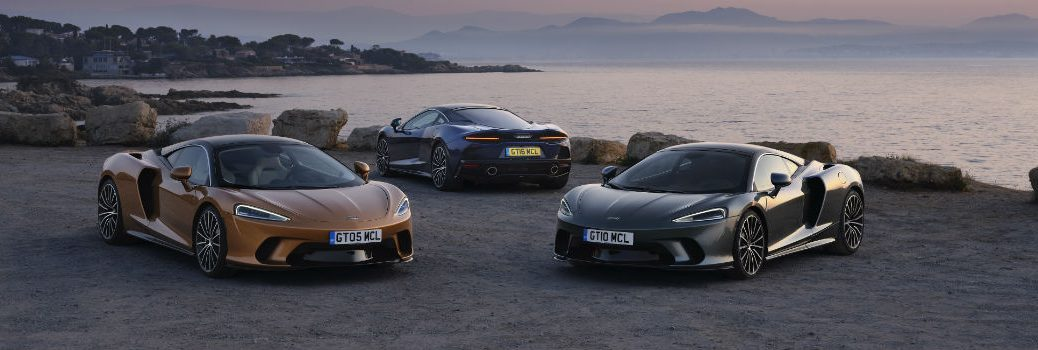 Three McLaren GT Models on Coast