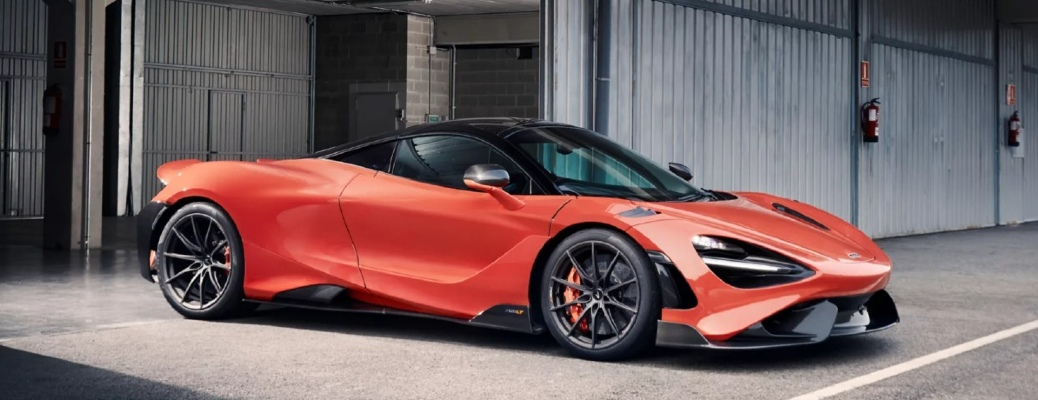 2021 McLaren 765LT rolls out of a storage area