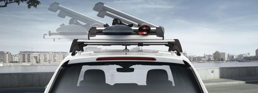 Snowboard-and-ski-roof-rack-attachment-on-Volkswagen-vehicle