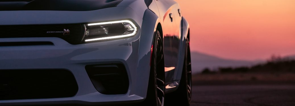 2020 Dodge Charger with beautiful sunset