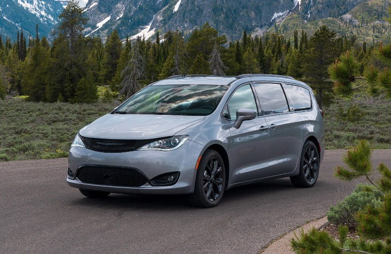 2020 Chrysler Pacifica in woods