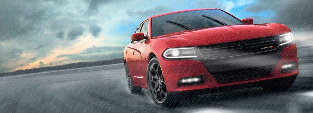 2019 Dodge Charger in the rain