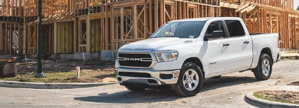 2020 RAM 1500 Tradesman in front of new construction