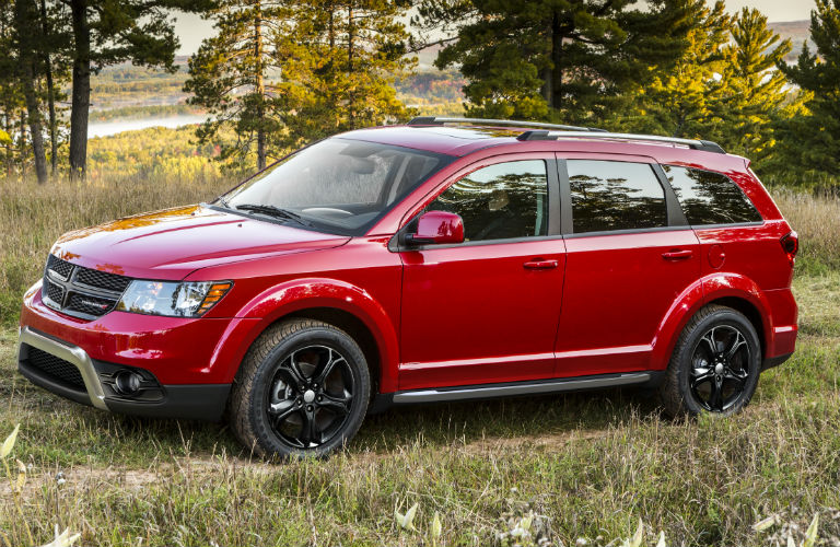 2020 Dodge Journey parked on the grass