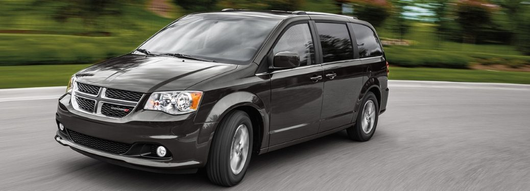 2020 Dodge Grand Caravan going down the street