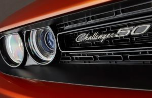 2020 Dodge Challenger 50th anniversary decal on grille