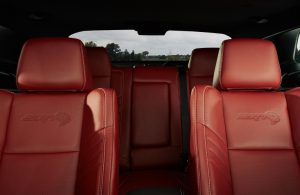 2020 Dodge Challenger interior with SRT logo on the seats