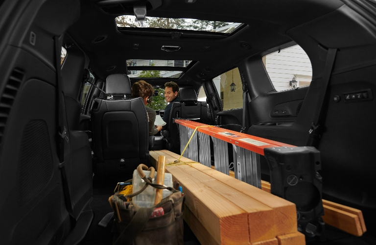 2021 Chrysler Pacifica loaded up with items from the hardware store
