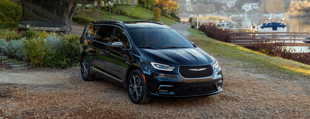 2021 Chrysler Pacifica parked by a body of water