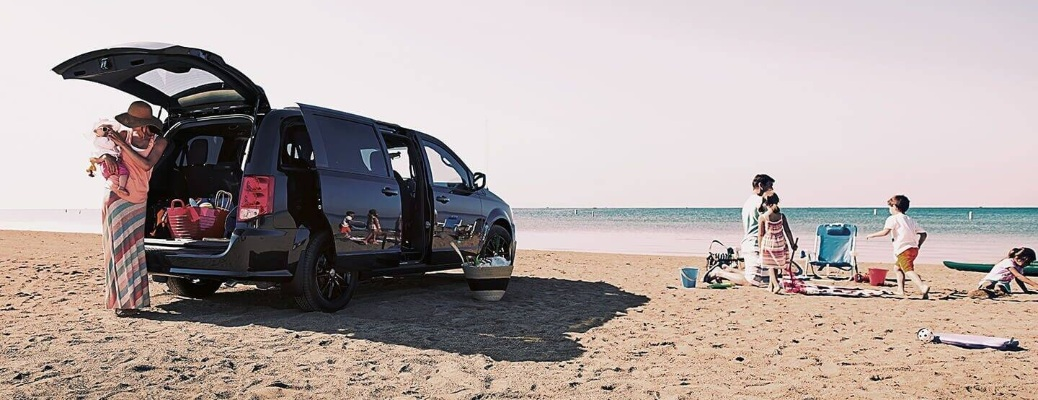 2020 Dodge Grand Caravan at the beach with the family