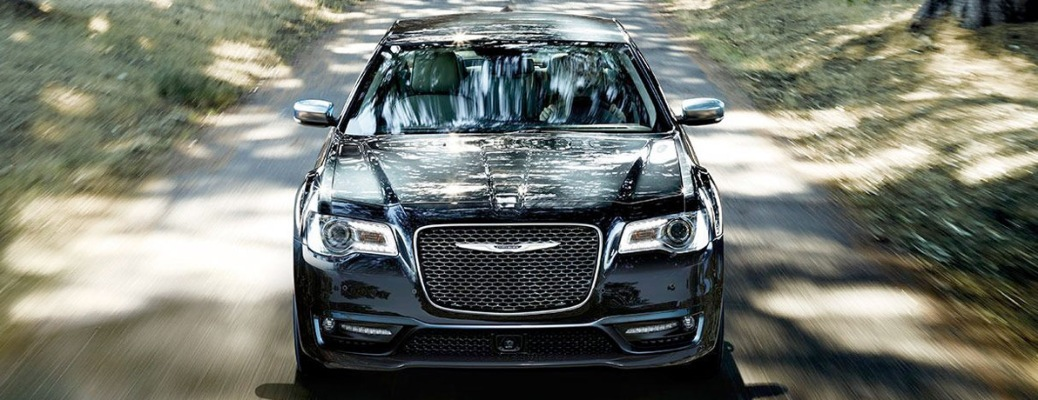 2020 Chrysler 300 going down a shaded road