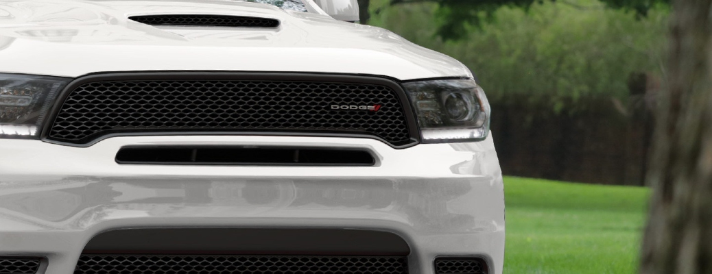 Front grille of the 2020 Dodge Durango