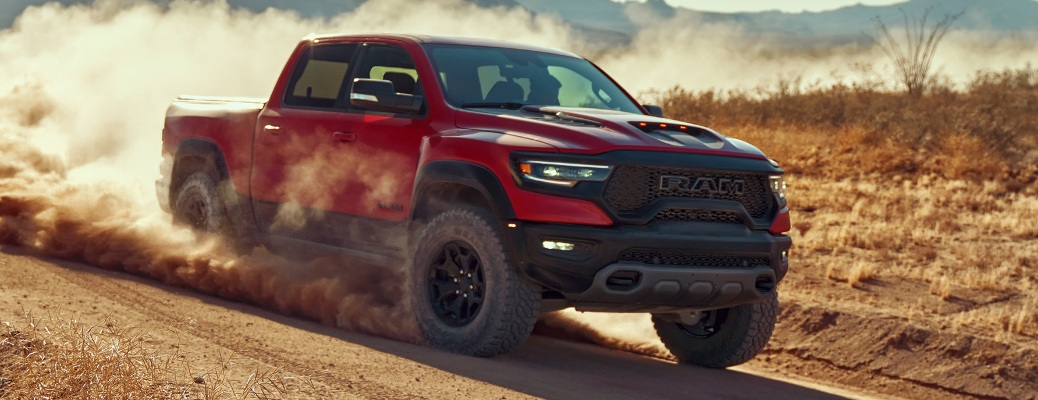 2021 RAM 1500 TRX kicking up dirt