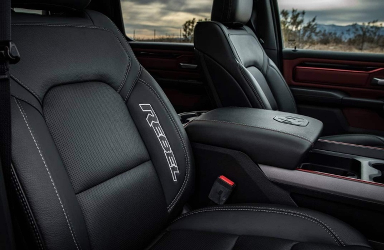 Front eats inside of the 2021 RAM 1500