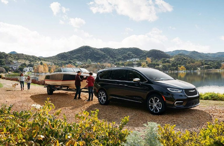 2021 Chrysler Pacifica pulling a boat