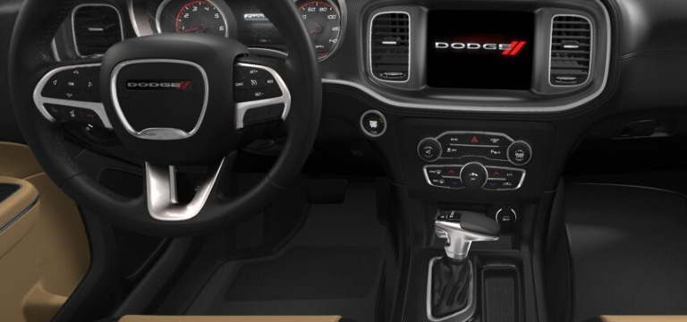 2021 Dodge Charger Black and Caramel Interior