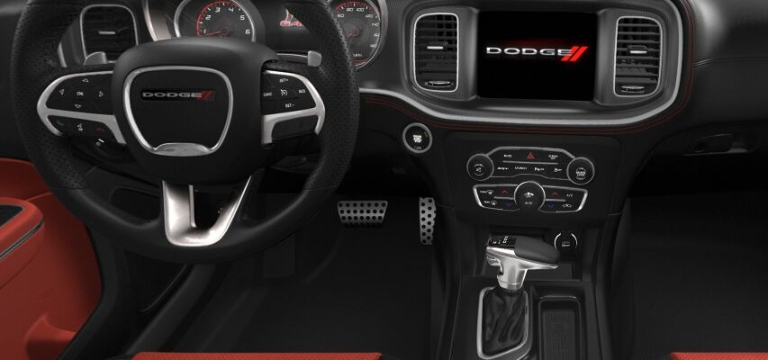 2021 Dodge Charger Black and Ruby Interior