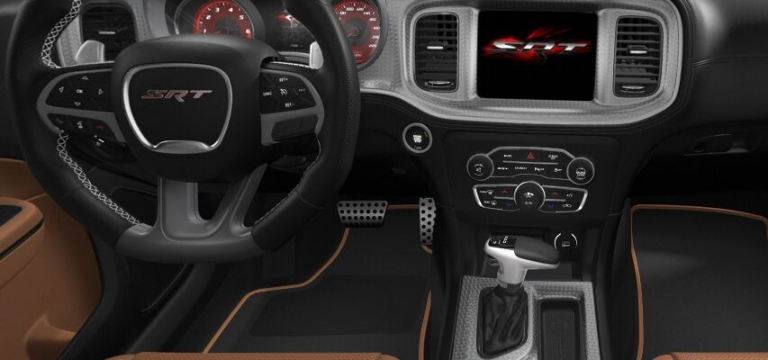 2021 Dodge Charger Black and Sepia Interior