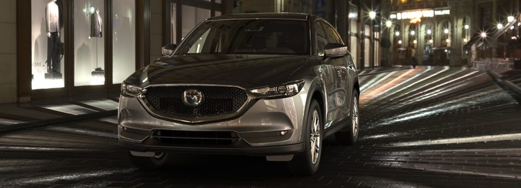 2019 Mazda CX-5 parked on street at night