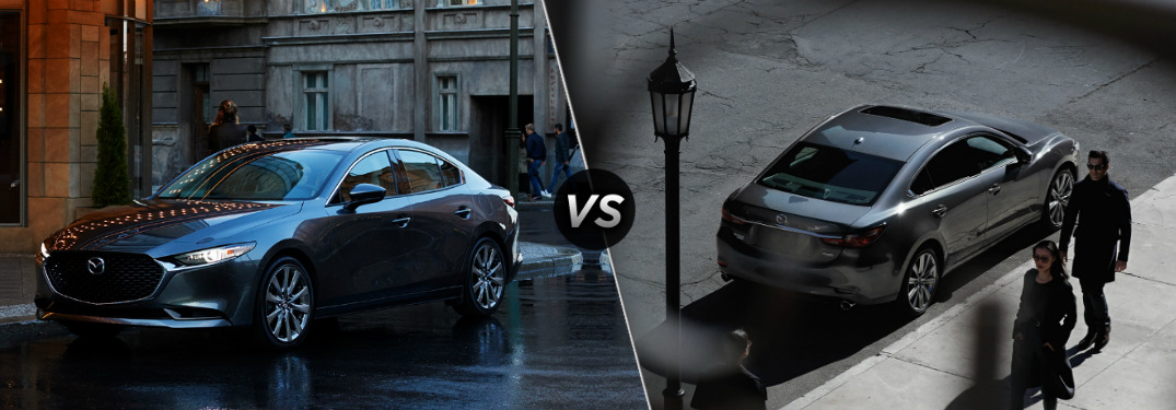 What's the difference between the 2020 Mazda3 and the 2020 Mazda6?