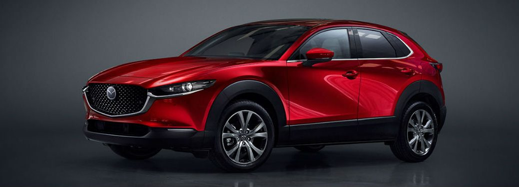 2020 Mazda CX-30 red exterior front fascia driver side